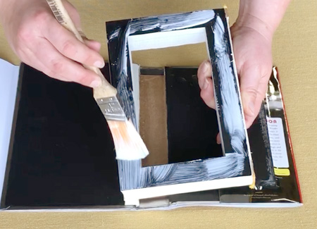 Gluing the bottom of the page block